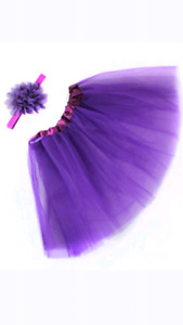 Purple Baby tutu + Head-band