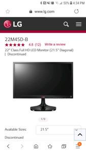 22 inch LG tv monitor