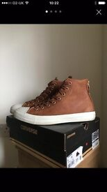 Converse brown trainers 8