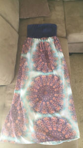 Strapless Maxi Dress- Large