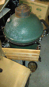 A Well Loved and Used Medium Big Green Egg