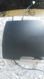 Ps3 slim with 10 games and 2 controller.
