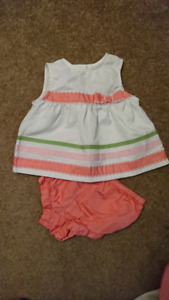 Girls Spring Summer Clothing 3-6 months