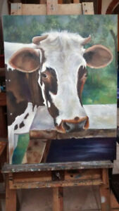 The cow - Oil on canvas