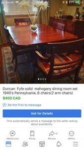 Duncan Fyfe Dining Room Set