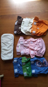 Size small coth diapers