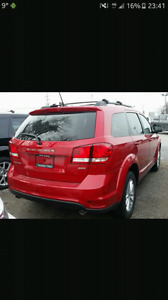 2016 red Dodge journey SE 4 CYL