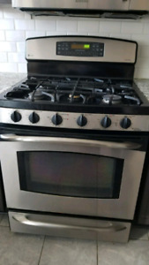GE Profile Gas Range and Convection Oven