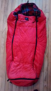Housse de poussette Sherpa rouge