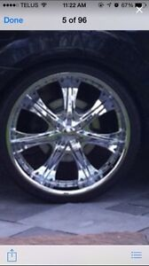 24 inch rims and rubber $$975$$