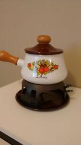 Poêle à fondue vintage