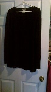 3x long black sweater from LAURA PLUS