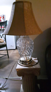 Table/Side Table Lamp with Cristal Base