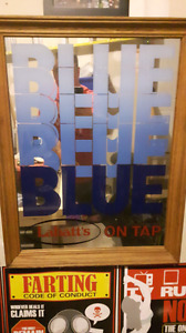 Labatts blue Mirror sign