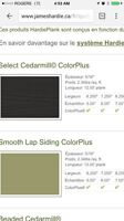 Revêtement extérieur fibro ciment James Hardie Select gris fer