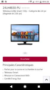 Téléviseur intelligent LG 24po