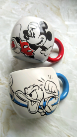 Genuine Disney mugs. Donald Duck and Mickey Mouse.