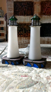 Lighthouse Stained Glass Lamps