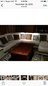 Italian leather section couch