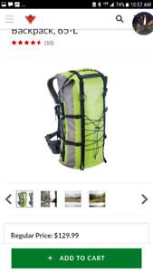 65L Dry bag backpack.