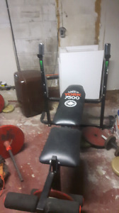 Weight bench with leg lift