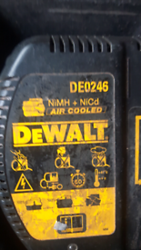 Dewalt case , batteries and charger
