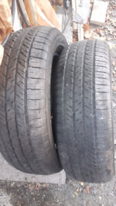 Two m+s 17 inch tires