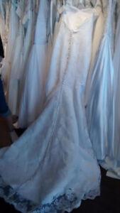 Sweetheart lace low back mermaid wedding dress