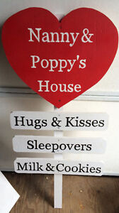 Nanny & Poppy's House Signs, personalized & Photo props