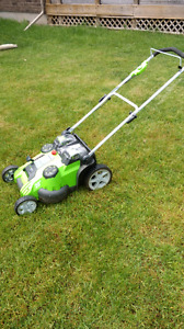 Lawn Mower - GreenWorks Twin Power Cordless Lithium Battery
