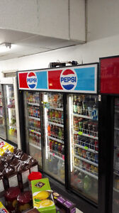 Large Commercial Three Door Display Beverage Cooler