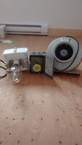 Lumière 400 watts pour poulailler et ventilateur de 8 pouces