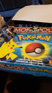 Pokémon monopoly game. And suitcase