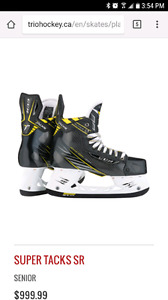 Brand new in box ccm super tacks size 9 with extra insole