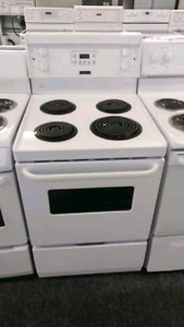 Apartment size stove with warranty part's and labour