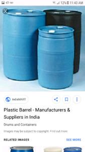 55 gallon Plastic barrels drum rain barrels