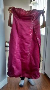 Burgundy Bridesmaid Dress - Size 3X