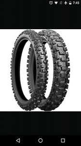 Brand new dirt bike tires