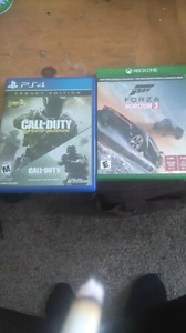 Selling cod infinite Warfare and Forza Horizon 3  40 each