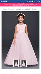 Flower girl and brides maid dresses