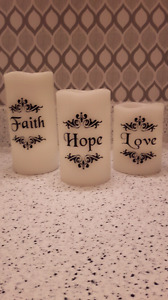 Battery operated candles (set of 3)