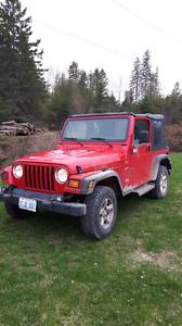 Jeep wrangler TJ 6 cyl 4L 2002