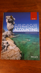Intermediate accounting textbook, study guide and WileyPLUS