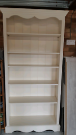 Painted pine bookcase