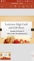 Craft and Gift Sale Nov 17 Lockview High School