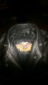 Harley Davidson Leather bomber jacket