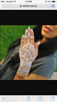 white heena tatto /henna tatto starting for $10 per side of hand