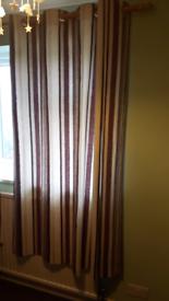 Purple striped curtains