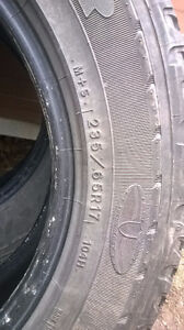 SET OF M&S TIRES STILL HAVE A SEASON LEFT IN THEM