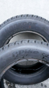 2x  185/65/14 Hankook I Pike winter tires